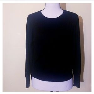 Zara Knit Long Sleeves Black Top Size S